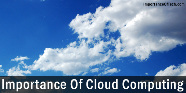 Cloud Computing Importance