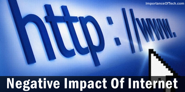 negative impact of internet my essay point