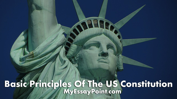 Basic principles of the US constitution