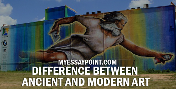 difference between ancient modern art