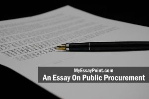 essay on public procurement