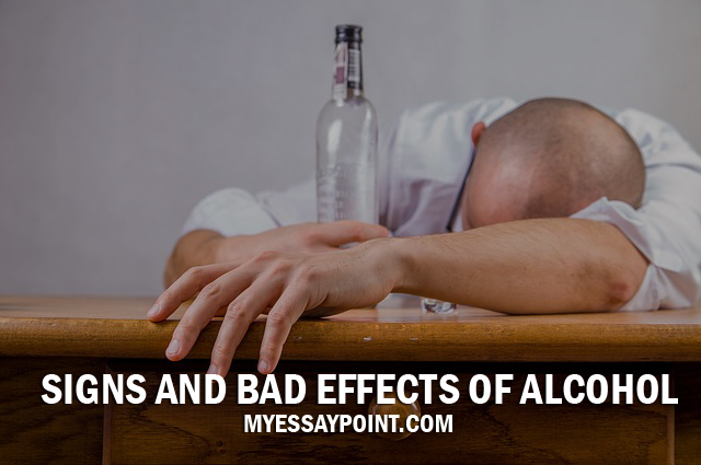 Signs Of A Bad Transmission >> Alcoholism signs and bad effects essay | My Essay Point