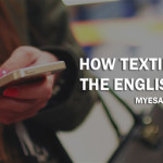 texting runing english language